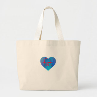 Love Fat (Blue and Red) Large Tote Bag