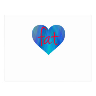 Love Fat (Blue and Red) Postcard