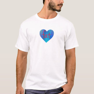 Love Fat (Blue and Red) T-Shirt
