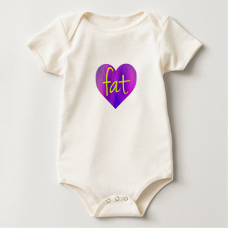 Love Fat (Purple and Yellow) Baby Bodysuit