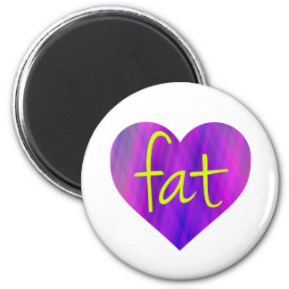 Love Fat (Purple and Yellow) Magnet