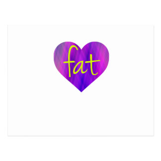 Love Fat (Purple and Yellow) Postcard