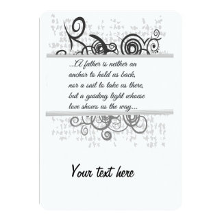 Love Father-Guiding light 13 Cm X 18 Cm Invitation Card