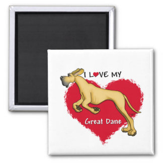 Love Fawn Great Dane UC Magnets