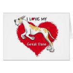 Love Fawnequin Great Dane Greeting Card