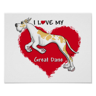 Love Fawnequin Great Dane Poster