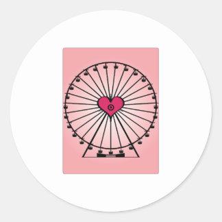 Love Ferris Wheel Round Stickers
