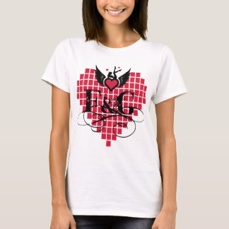 Love Filthy and Gorgeous Heart - women's T-Shirt
