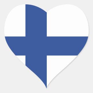 Love Finland, Finnish Flag Heart Sticker