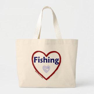 Love Fishing Jumbo Tote Bag