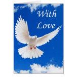 Love flies in greeting card