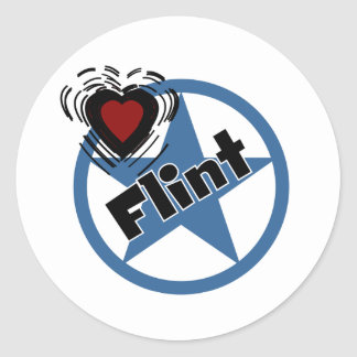 Love Flint Classic Round Sticker