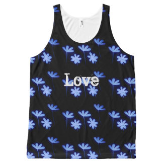 love floral All-Over print tank top