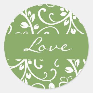Love Floral Vine Envelope Sticker Seal