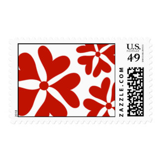 Love Flower Red Hearts Postage Stamp