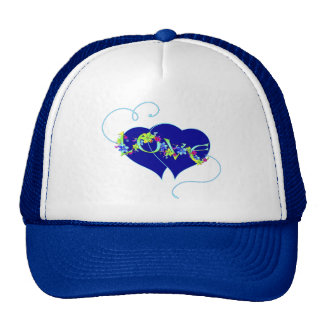 Love Flowers and Hearts Valentine Hat