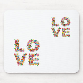 Love Flowers Mouse Pad