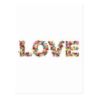 Love flowers postcard