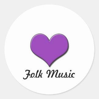 Love Folk Music Sticker