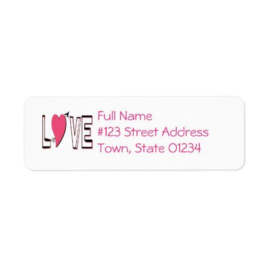 Love Font Return Address Label