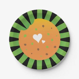 Love food easter party rays design paper plate