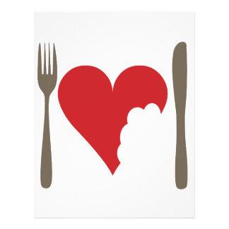 Love food, Love heart 21.5 Cm X 28 Cm Flyer