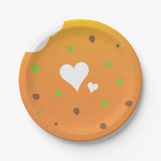 Love food party design paper plate