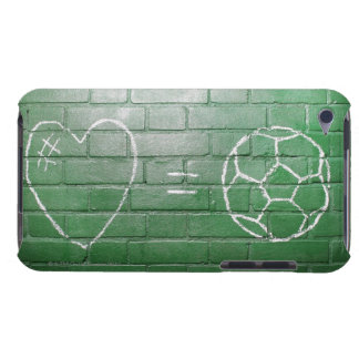 Love = Football drawn in chalk on wall iPod Touch Cases