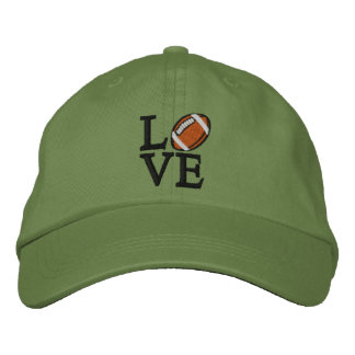 LOVE Football Embroidered Hats