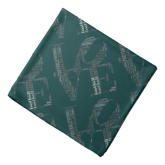 LOVE FOOTBALL Pattern bandanna