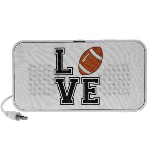 Love football, word art, text design for t-shirt laptop speaker