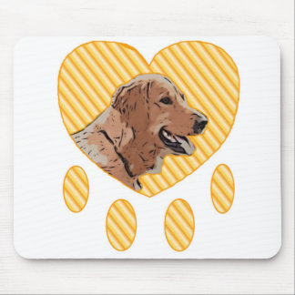 Love for a Golden Retriever Mouse Pad