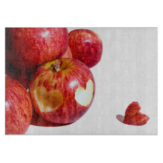 Love for apples cutting board