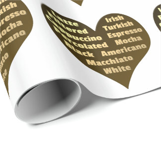 Love for Coffee Gift Wrapping Paper