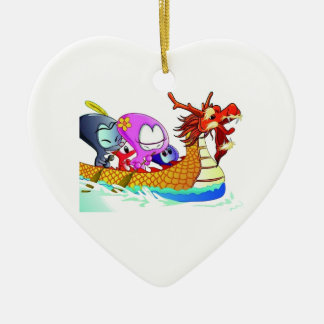 Love for dragonboating christmas ornament