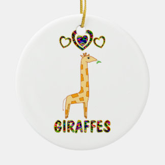 Love for Giraffes Christmas Ornament