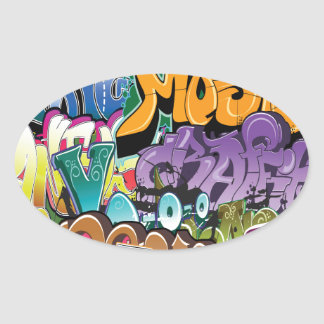 Love for Graffiti Oval Sticker