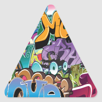 Love for Graffiti Triangle Sticker