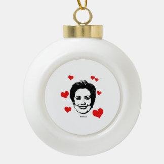 Love for Hillary Ceramic Ball Decoration