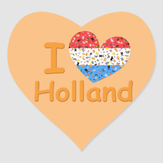 Love for Holland Heart Sticker