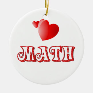 Love for Math Round Ceramic Decoration
