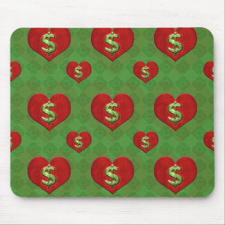 Love for Money Pattern Mouse Pad