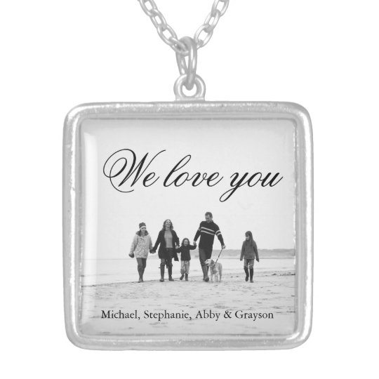 Love for Mum Family Photo Necklace