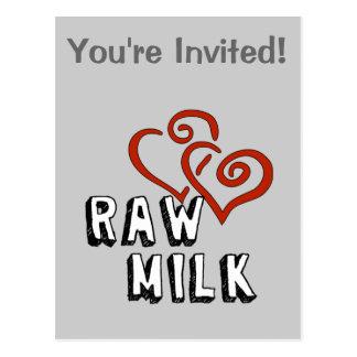 Love for Raw Milk Postcard