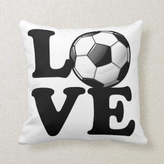 Love For Soccer Glossy Soccer Ball Cushion
