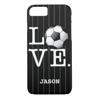 Love For Soccer Glossy Soccer Ball iPhone 7 Case