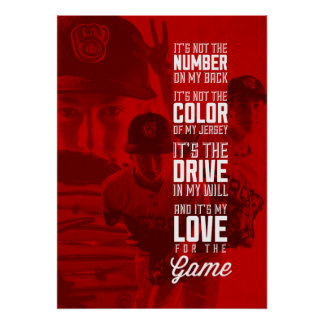 Love for the Game Poster with Your Image