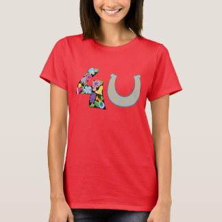 Love For You Symbol Heart floral Horseshoe Luck T-Shirt