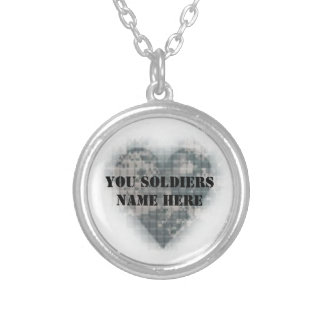 Love for Your Soldier Round Pendant Necklace