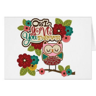 Love Forever Owl Card